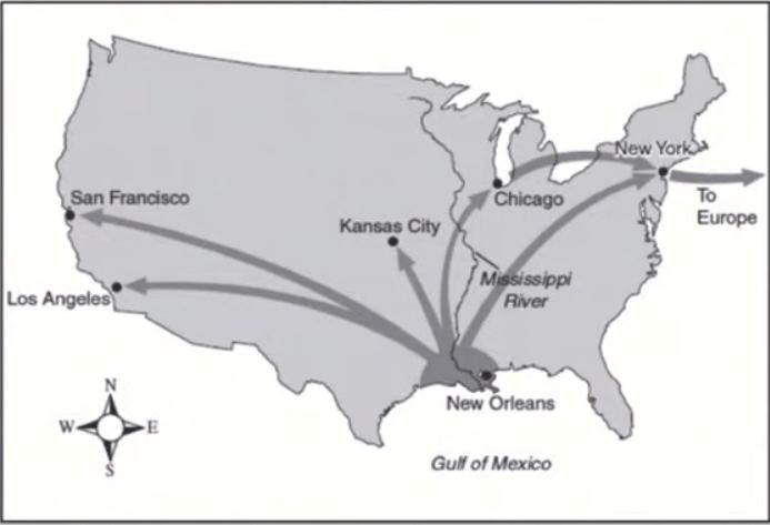 ジャズダンスがニューオリンズからアメリカ全土の主要都市へ