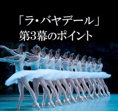 バレエ「ラ・バヤデール」第3幕、第4幕のあらすじと見どころポイント