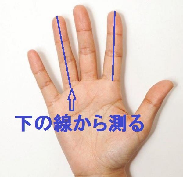 人差し指と薬指でテストステロンを測る
