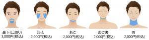ヒゲ5部位のお得なセット割脱毛