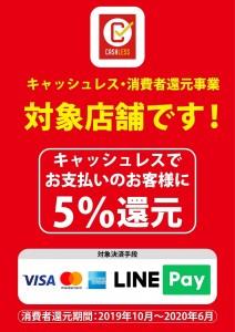 visa master amex line pay 消費者還元キャンペーン